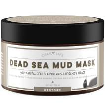 Calily Life Dead Sea Mud Mask Face Moisturizer Premium Treatment for Acne, Oily Skin and Blackheads Organic Deep Pore Cleansing Anti-Aging Formula for Fine Lines and Wrinkles - 8.45 oz