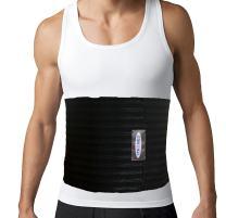ITA-MED Men's Breathable 9 Inch Wide Elastic Abdominal Binder, Black, X-Large, 1 Pound