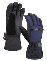 Verabella Ski Gloves Men Snowboard Gloves Winter Accessories for Men , Grey27, M