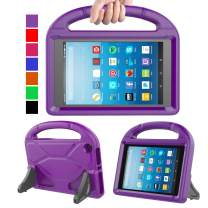 MENZO Kids Case for Amazon All-New Fire HD 8 2018/2017, Light Weight Shockproof Handle Stand Kids Friendly Case for Fire HD 8 inch (2017 and 2018 Releases) Tablet, Purple