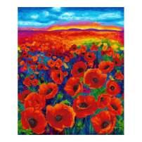 Timeless Treasures Digital I Dream Of Poppy 36'' Panel Bright