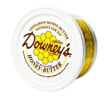 Downey's Cinnamon Honey Butter, All-natural spread to use as a marinade, or an excellent topping on croissants, ice cream, muffins and baked goods. 8 oz container (Pack of 2)