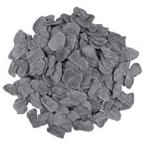 QuliMetal Flaky Lava Rock for Fireplaces, Fire Pits, Fire Bowls, Gas Log Sets, Coal Rocks Accessories for Indoor or Outdoor Gas Inserts, Gray, 2.2 Pounds/Bag