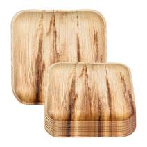 """Palm Leaf Plates 100 Pack - 5"""" Eco-Friendly Disposable Square Dessert Plates - 100% Natural Compostable Biodegradable Salad Appetizer Plates - Bulk Party Supplies for Wedding, Birthday & All Occasions"""
