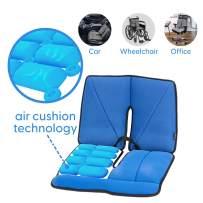 Dr. air Seat Cushion, Non-Slip Orthopedic Lumbar Support Cushion, Back, Sciatica, Coccyx and Tailbone Pain, Wheelchair, Office, Car, Home (Blue, Lumbar)