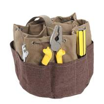 Garden Tote Bag, Durable Canvas Tool Tote Bag,Gardening Tote Bag with Multi-Pockets,Outdoor Multi Pocket Garden Tool Organizer for Gardener,Electricians, Handymen