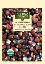 Seeds of Change S14142 Certified Organic Mandan Red Flour and Ornamental Corn