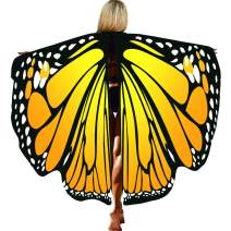 Butterfly Cape Wings for Women,Halloween/Party Costumes,Soft Fabric Butterfly Shawl Fairy Ladies Cloak with Antenna Headband