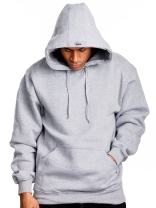 PRO 5 Mens Heavy Weight Fleece Pullover Hoodie