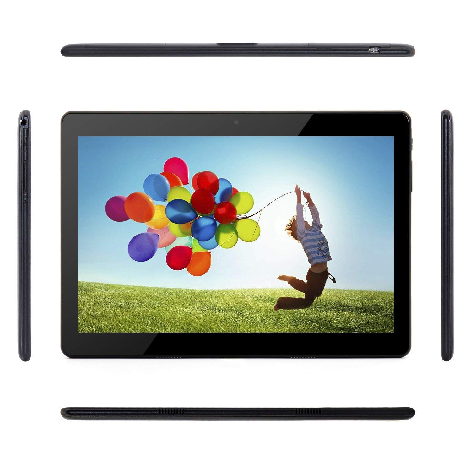 Tablet Android 10 Inch Unlocked 3G Phablet Tablet PC with Dual SIM Card Slots Dual Camera WiFi Bluetooth GPS 16GB MTK6580 1.3GHz IPS Screen 800x1280 - Black