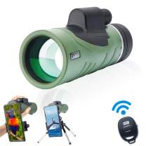 ESAKO 10X42 High Power Monocular Telescope for Adults Kids with Phone Mount Tripod & Wireless Camera Shutter Control Ultra Bright Clear Perfect for Camping Hiking Travelling