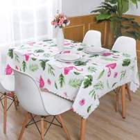 Hiasan PVC Rectangle Tablecloth 100% Waterproof Spillproof Stain Resistant Wipeable Vinyl Table Cloth for Outdoor Picnic Kitchen Dining, 54 x 120 Inch
