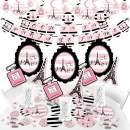 Big Dot of Happiness Paris, Ooh La La - Paris Themed Baby Shower or Birthday Party Supplies - Banner Decoration Kit - Fundle Bundle
