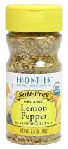 Frontier Salt Free Organic Seasoning, Lemon Pepper, 2.5 Ounce
