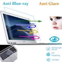 MUBUY AntiBlueLight Anti Glare Screen Protector Fit MacBook Air 13 Inch A1369 A1466 & Keyboard Cover , Eyes Protection Filter Reduces Eye Strain Help You Sleep Better, Anti Fingerprint