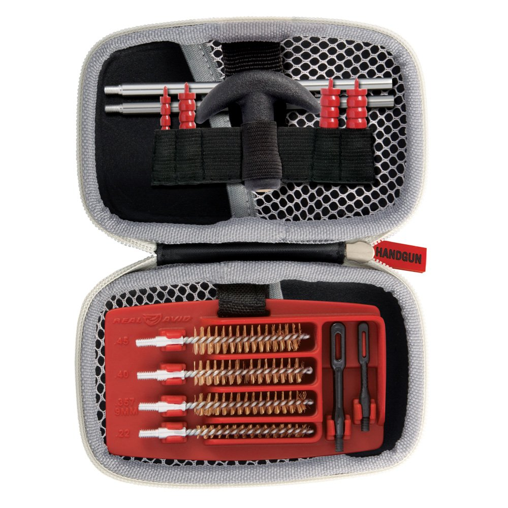 Real Avid Gun Boss Handgun Cleaning Kit – for .22, .357, 9MM, .38, .40, .44, and .45 caliber handguns