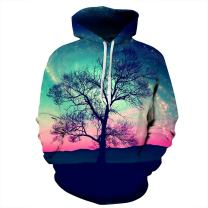 Mens Womens 3D Printed Novelty Hoodies Athletic Graphic Pullover Hooded Sweatshirt with Pockets