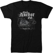 Black Anchor Pub Naples, FL Men's Modern Fit Tri-Blend T-Shirt