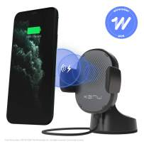Kenu Airbase Wireless | Qi Fast-Charging Dashboard Car Mount | Wireless Car Charger for iPhone 11 Pro Max/11Pro/11, iPhone Xs Max/Xs/XR/X, iPhone 8 Plus/8, Pixel 3XL/3, Samsung Galaxy | Black