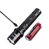 Weltool F1R USB Rechargeable Flashlight, 1000 Lumens Flashlight, Waterproof Tactical LED Torch, for Camping, Hiking, Trekking, Dog Walking, 5 Modes SOS Strobe, 18650 Battery & USB Included