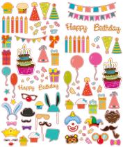 Polaroid PL2X3SPARTY Colorful & Decorative Party Stickers for 2x3 Photo Paper, Colorful