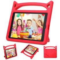 """Kids Case for Apple iPad 9.7 Inch 2018 Model (6th Gen) / iPad 9.7"""" 2017 Model (5th Gen) / iPad Air/iPad Air 2-Auorld Light Weight Shock Proof Handle Stand Cover Case Kids Friendly - Red"""