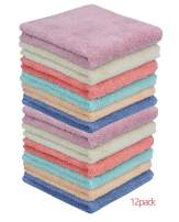 MAYOUTH Microfiber Cleaning Cloth Dust Cloths Bulk Multi-Functional for House Furniture Reusable Clean Rags Kitchen Wipes Dish Cloths Absorbent and Fast Drying (6 Colors x2, 12)