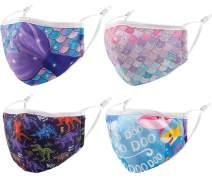 4PCS Kids Fashion Cotton Reusable Washable Adjustable Toddler Face Mask. Gifts for Kids