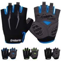 Grebarley Cycling Gloves Bike Bicycle Gloves Gym Gloves Mountain Road Anti-Slip Shock-Absorbing Gel Pad Light Weight Breathable MTB Biking Gloves for Men Women