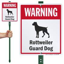 """SmartSign""""Warning - Rottweiler Guard Dog LawnBoss Sign 