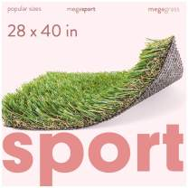 MEGAGRASS Popular Size Sport - Indoor and Outdoor Artificial Grass for Sports and Agility Training and Synthetic Fake Sports Turf Rug for Football, Baseball, and Soccer