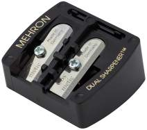 Mehron Makeup Pro-Pencil Dual Sharpener (Black)