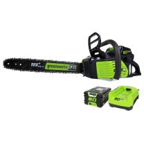 Greenworks Pro 80V 18-Inch Cordless Chainsaw, 2Ah Li-Ion Battery and Charger Included GCS80420