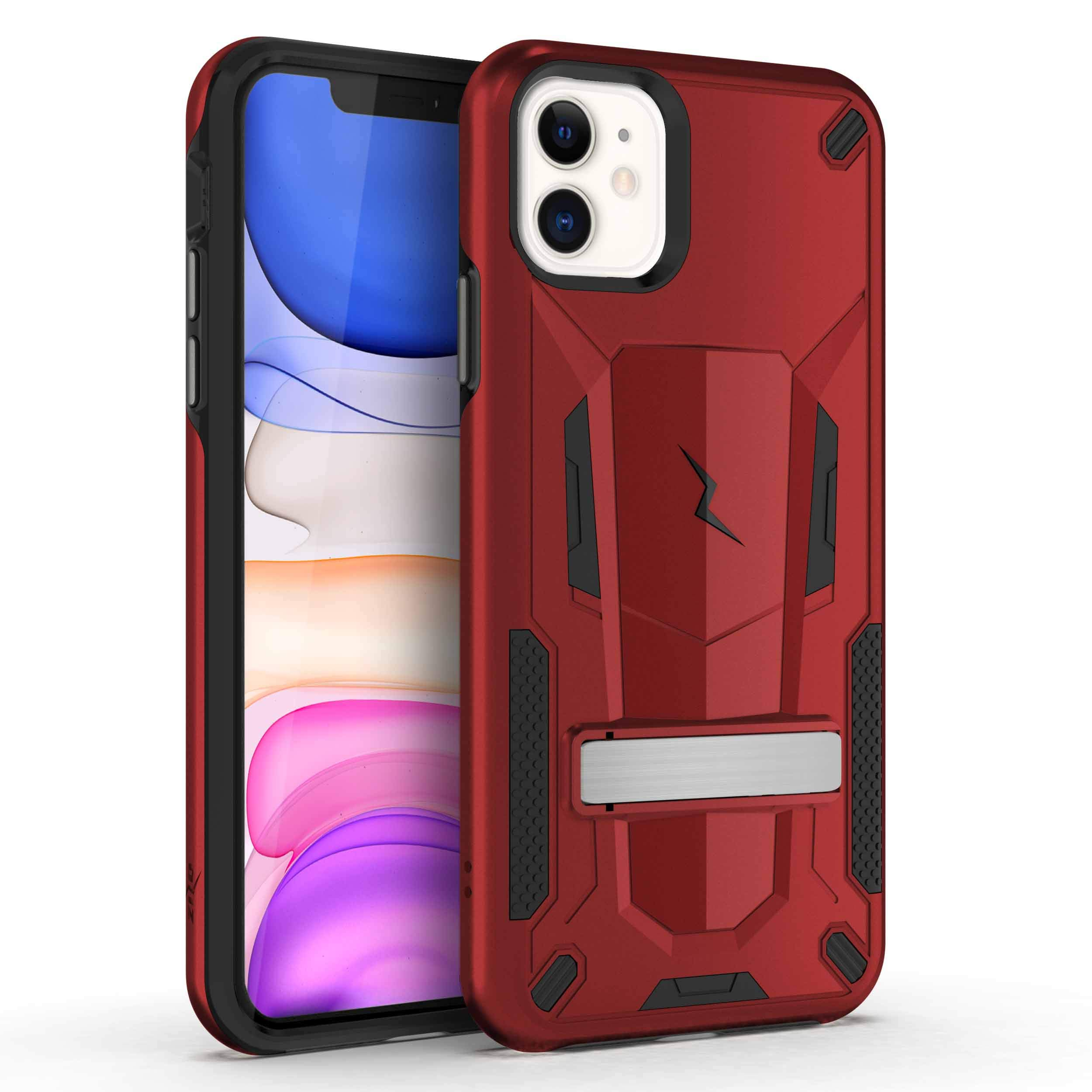 ZIZO Transform Series iPhone 11 Case - Dual-Layer Protection w/Kickstand, Military Grade Drop Protection - Red