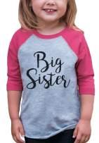 7 ate 9 Apparel Girl's Big Sister Pink Baseball Tee