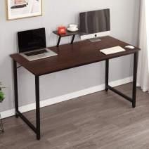sogesfurniture Computer Desk with Shelf 47.2 inches Sturdy Office Desk Meeting Desk Training Desk Writing Desk Workstation Desk Gaming Desk,Walnut BHUS-WK-JK120-WA