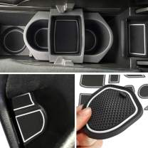 Auovo Anti-dust Door Mats Inserts Cup Center Console Liner Accessories Fit for Honda Civic Hatchback 2016 2017 2018 2019 2020(21pcs/Set, White)