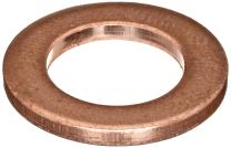 """110 Copper Round Shim, Unpolished (Mill) Finish, H02/H04 Temper, ASTM B152, 0.064"""" Thickness, 1"""" ID, 1-1/2"""" OD"""