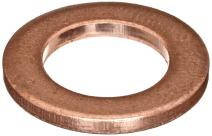 "110 Copper Round Shim, Unpolished (Mill) Finish, H02/H04 Temper, ASTM B152, 0.064"" Thickness, 3/8"" ID, 5/8"" OD (Pack of 10)"