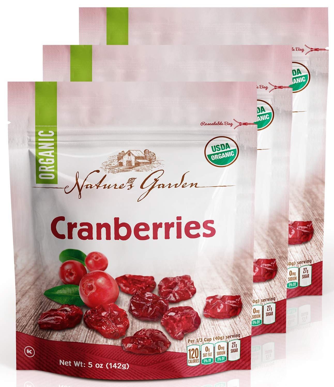 Nature's Garden Organic Cranberries - 5 oz. (Pack of 3)