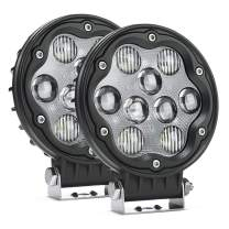 MICTUNING WR1 2Pcs 4.7 Inch 27W Round LED Light Pods, 2335lm Spot Flood Combo Beam Off Road Driving Lights White Light