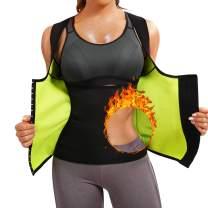 Scarboro Hot Neoprene Sauna Waist Trainer Vest for Women Workout Sweat Body Shaper Slim Corset Zipper Tank Tops Sauna Suit Weight Loss
