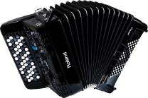 Roland FR-1XB Premium V-Accordion Lite with 62 Buttons and Speakers, Black