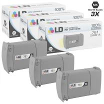 LD Remanufactured Ink Cartridge Replacement for HP 761 CM991A (Matte Black, 3-Pack)