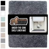 Gorilla Grip Original Premium Under Sink Mat Liner, 24x60 Inch, Non-Adhesive Absorbent Mats, Durable and Strong Waterproof Shelf Liners for Under Kitchen Sinks, Bathroom, Laundry Room, Charcoal