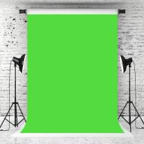 Kate 5×7ft Pure Lime Green Solid Photography Bacdkrop Abstract Portrait Green Background Fabric Muslins Photo Studio Props for Photographer Headshots