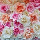 AOFOTO 10x10ft Wedding Paper Flowers Backdrop Sweet Romantic Bridal Shower Party Decoration Photography Background Girl Adult Lady Woman Mother Artistic Portrait Activity Photo Studio Props Wallpaper