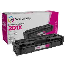 LD Compatible Toner Cartridge Replacement for HP 201X CF403X High Yield (Magenta)