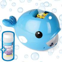 Neliblu Automatic Bubble Machine - Massive Amount of Bubbles with A Touch of A Button - Adorable Bubble Blower for Kids and Toddlers