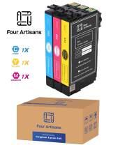 FourArtisans Repackaged Original Brand 802 Ink Cartridges, Original Epson Ink Inside, Work for WF-4730, WF-4720, Wf-4734, WF-4734 Printers (3 Color Standard, C M Y)